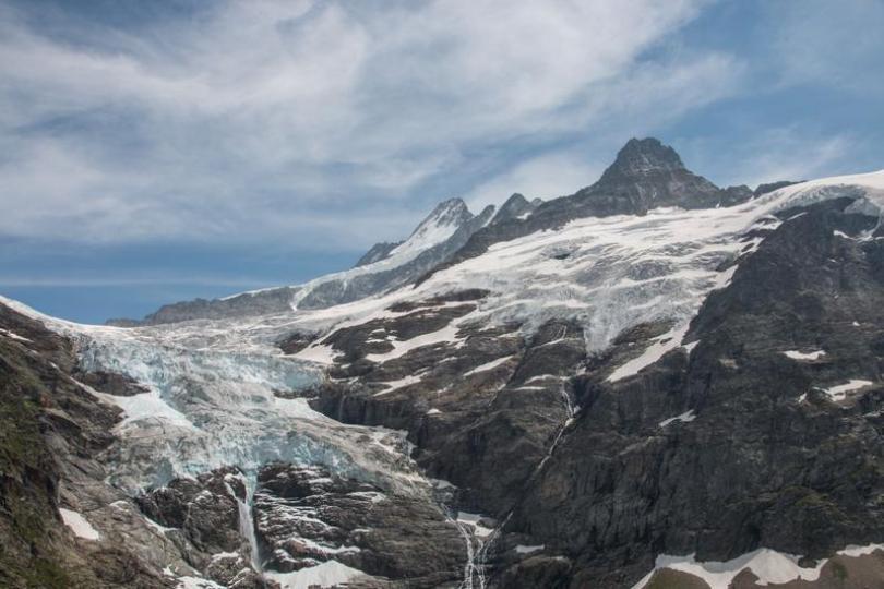 Das Eisvolumen der Alpen schrumpft