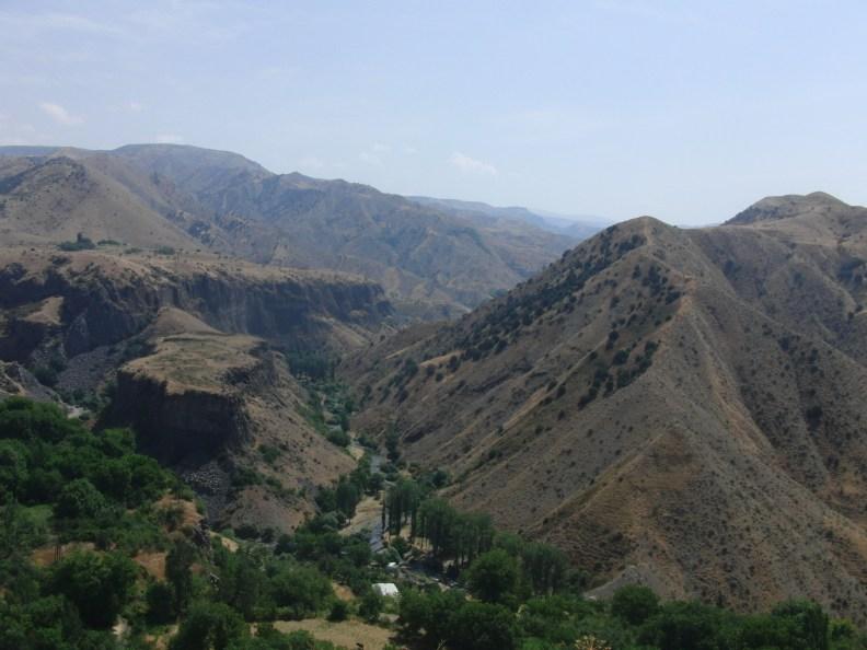 Blick vom Tempel in Garni, Armenien