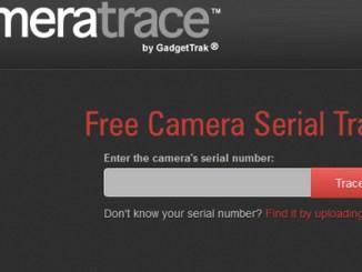 camera trace appareil photo perdu
