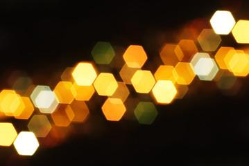 bokeh hexagonal rugueux