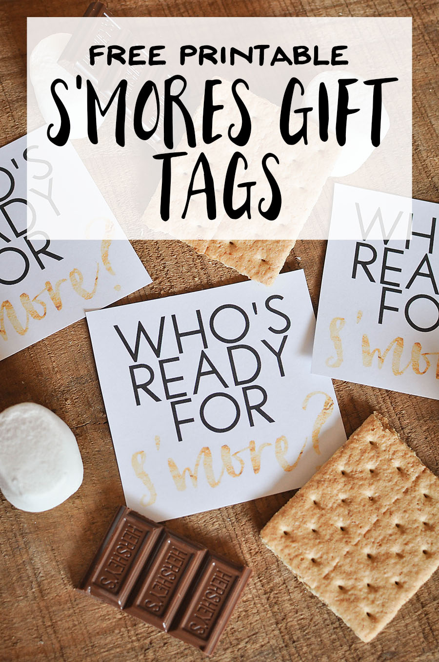 Free Printable S Mores T Tags