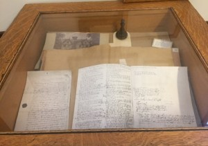 Witch trial display, Essex County Court library