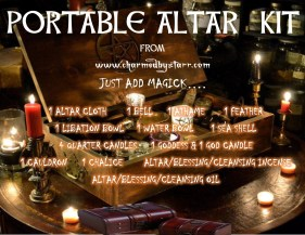 PORTABLE ALTAR KIT SIGN