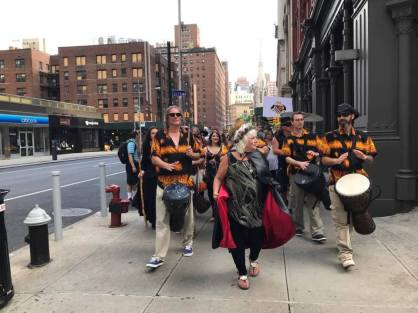 Lady Rhea & Dragon Ritual Drummers at 1st Witch Pride Parade