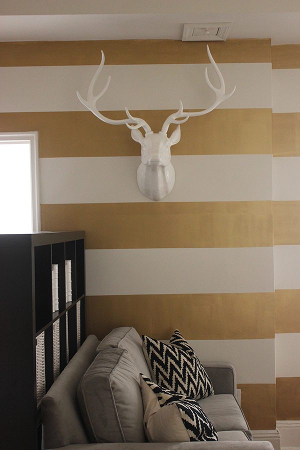 antlers & gold stripes | via https://www.withach.com