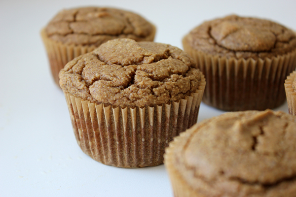 banana bread paleo muffins // via withach.com