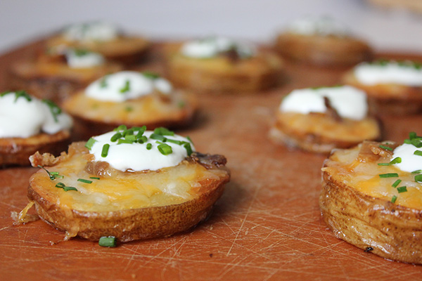 loaded potato rounds | via withach.com