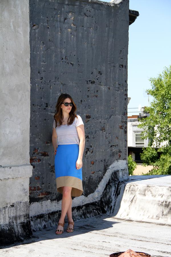 high-low skirt || via withach.com