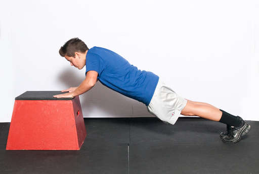 Incline Push Up Clear Illustrated Easy To Follow
