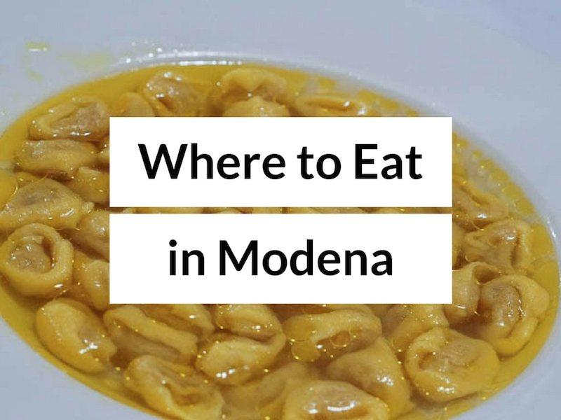 Eat in Modena: Italian Restaurants in Modena