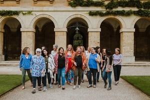 group of women walking in Oxford England