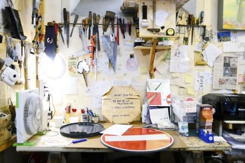 CLET's atelier in San Niccolò