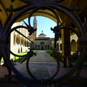 Santa Croce - cloister - Florence
