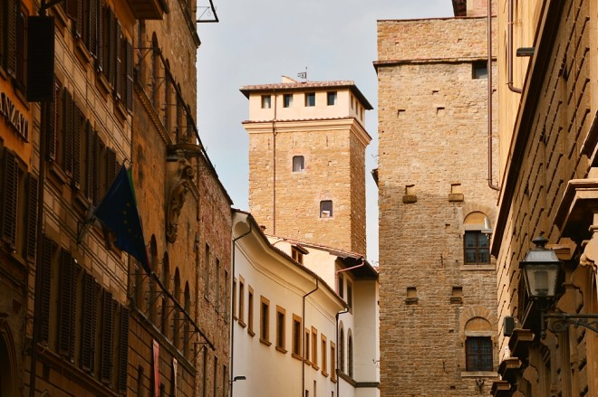 Towers of Florence - Torre dei Monaldi - via Porta Rossa