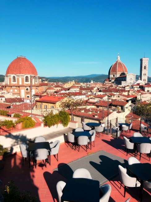 B-Roof, the rooftop bar at Hotel Baglioni in Florence - Piazza dell'Unità Italiana, 6