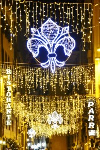 Streets of Florence at Christmas time - via de' Guicciardini