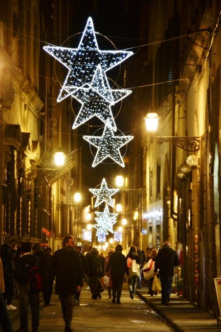 Streets of Florence at Christmas time