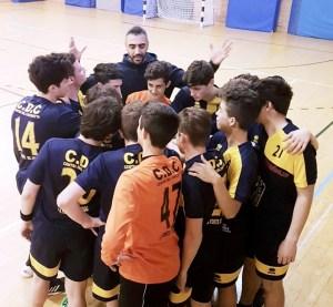 handball coach Shahram Nari training his team offline