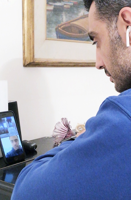 handball coach Shahram Nari training his team online
