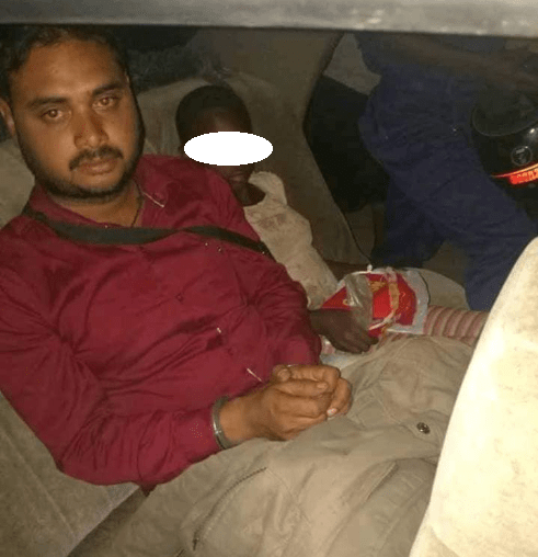 Indian man caught having sex with underage homeless African girl (photo)