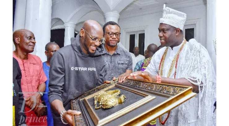 """Image result for """"Thank you for taking care of 2baba for us"""" – Ooni of Ife thanks Annie Idibia"""