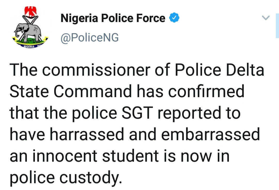 Police officer who destroyed a DELSU student