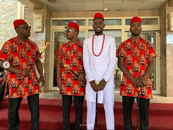 First photos from the traditional wedding of Super Eagles and Leicester City midfielder, Wilfred Ndidi