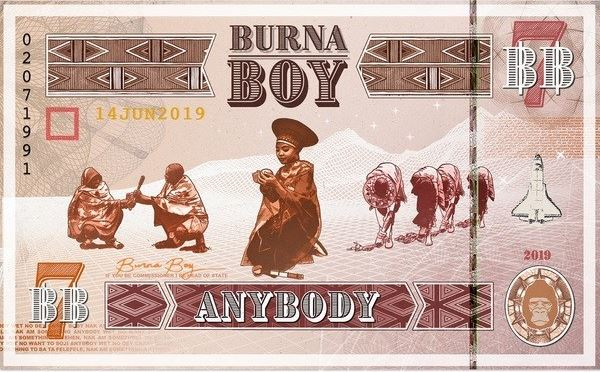 Self-styled African Giant, Burna Boy Out With 'Anybody'