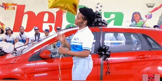 Image result for Khafi finally receives car prize for winning 'Innoson motor challe