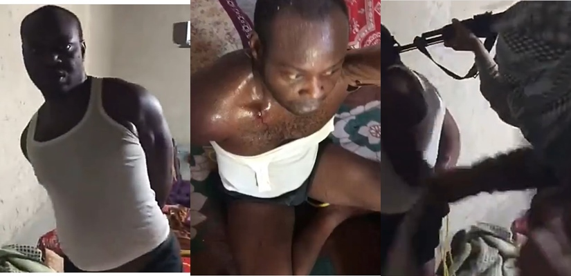 Man cries for help as he's tortured in the Middle East after his uncle used him as collateral and absconded