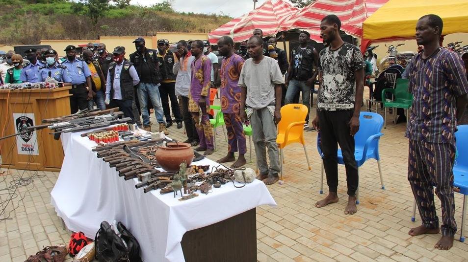 Police arrest 7-man criminal gang for multiple bank robbers in ...