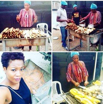 #BBNaija: Throwback photos of Lucy selling roasted plantain and fish