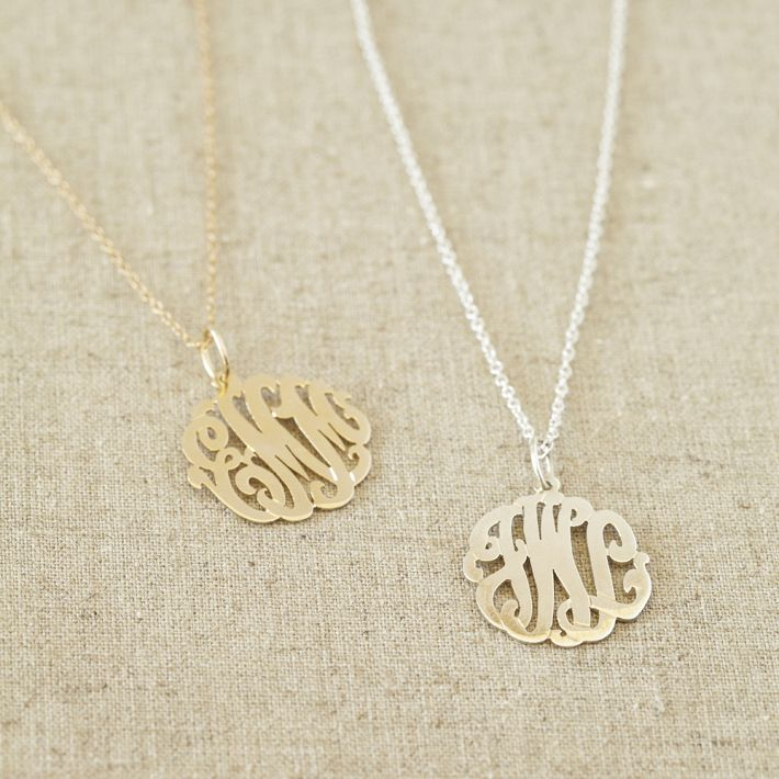 Gold Pendants with Alphabets
