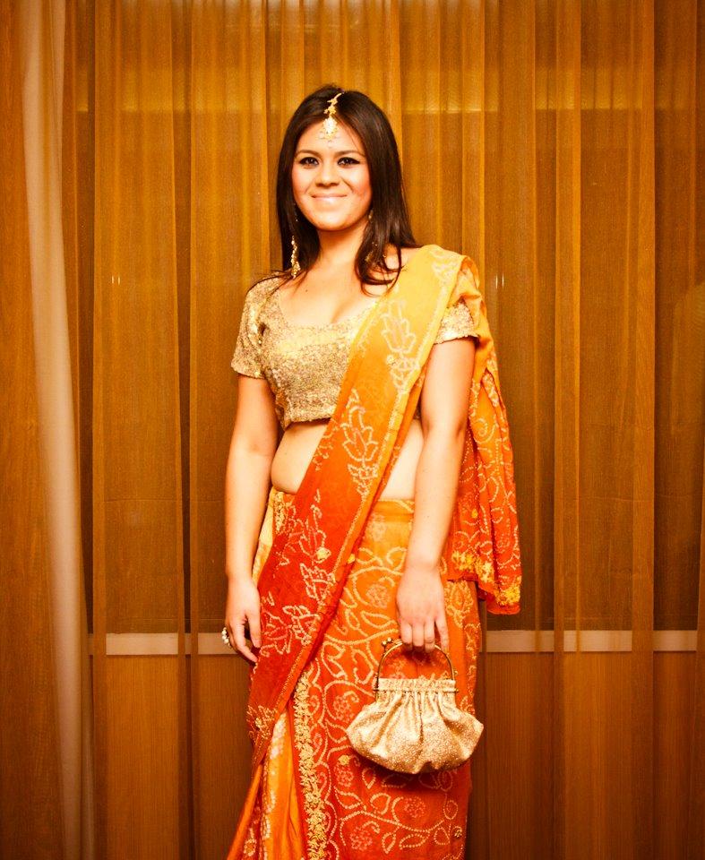 Sardis in a borrow designer Indian inspired dresses