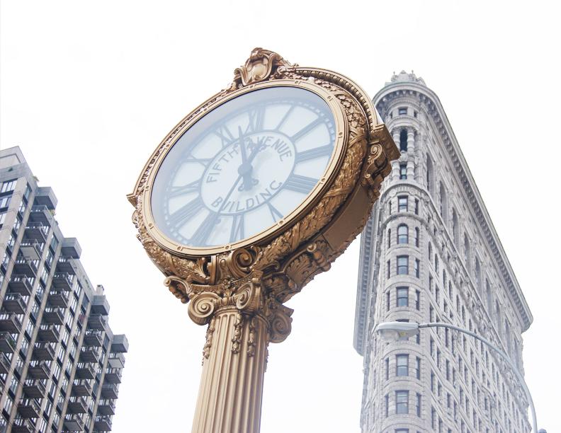 clock in New York City