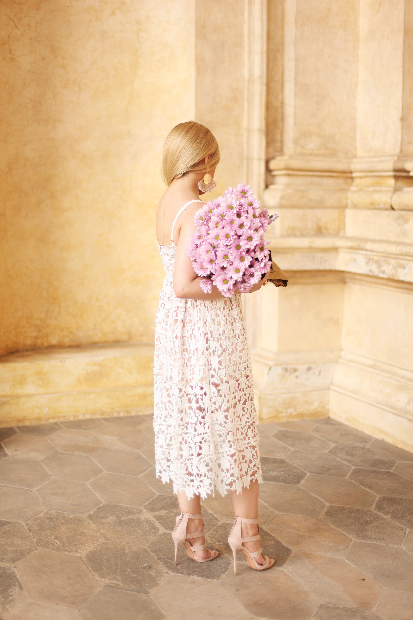 Summer dresses and lavender flowers
