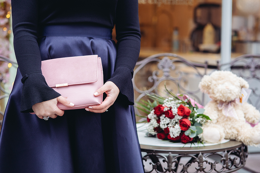 beautiful pink bag