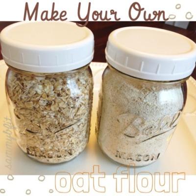 How To Make Oat Flour | http://withpeanutbutterontop.com