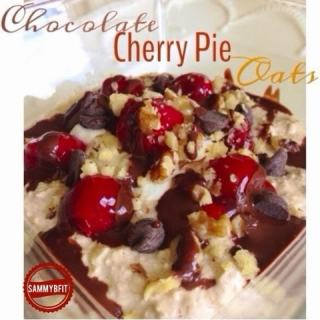 Chocolate Cherry Pie Overnight Oats
