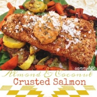 Almond and Coconut Crusted Salmon