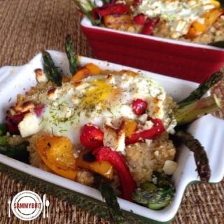 Quinoa & Asparagus Egg Bake