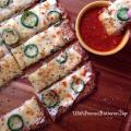 Cheesy Jalapeno Popper Breadsticks