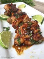 One Pan Cilantro Lime Chicken Thighs - simple to make, healthy, bursting with flavor and is absolutely delicious! Great for meal prepping or as an addition to any wraps, salads, or sandwiches!