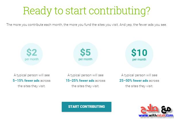 أسعار الاشتراك في Contributor
