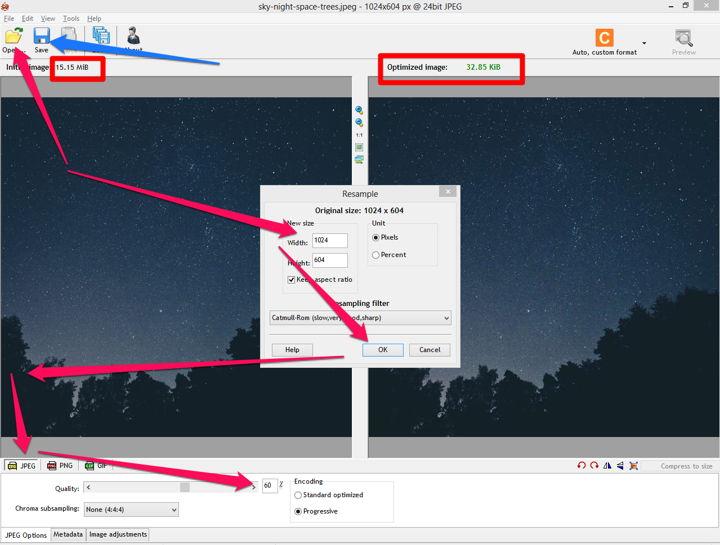 استخدام Roit لتصغير حجم الصور
