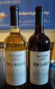 Salt Lick Cellars Red and White wine