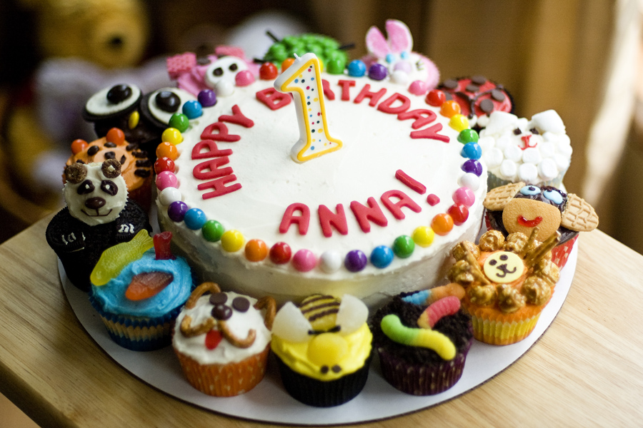 Zoo Animal Birthday Cake