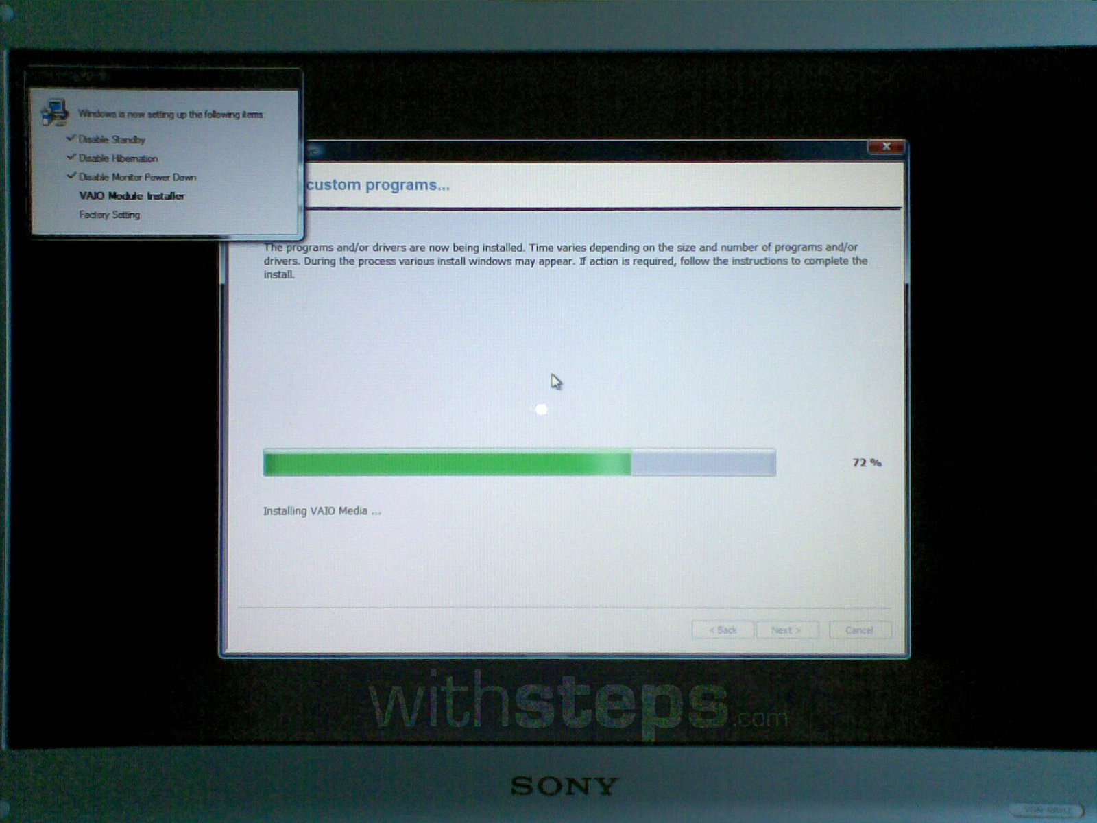 Restore A Sony Vaio Pc To Its Factory Settings Withsteps