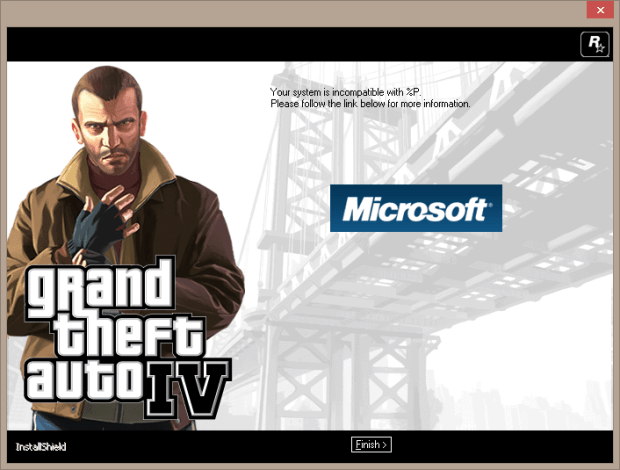 GTA IV incompatible