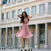 Pink Pleats at Palais-Royal